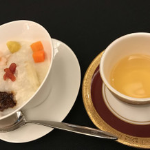 お粥と中国茶の試食