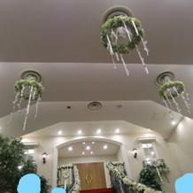 階段の天井飾り