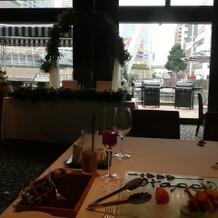 披露宴会場、ゲスト席からの眺め