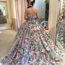 ドレスの数も沢山でした!