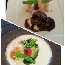 メインの肉&魚料理