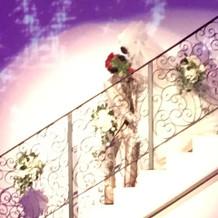 階段入場の際のキレイなハート