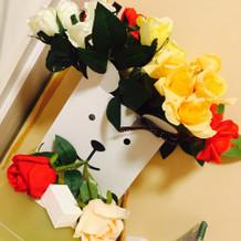 持ち込みをした造花