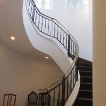 ラメゾンに行く螺旋階段
