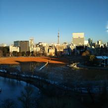 披露宴会場からの当日の写真。冬です。