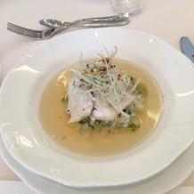 前菜鯛の茶漬け とっても美味しかっです!