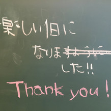 黒板もとても可愛かったです!