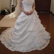 当日、着たドレス