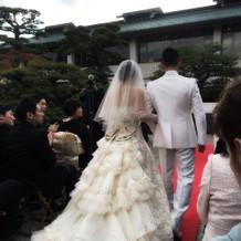日本庭園での人前式!