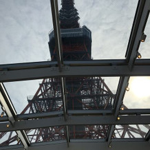 そびえ立つ東京タワーの存在感