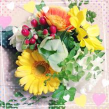 テーブル装花の一部