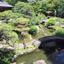 披露宴会場横の庭園
