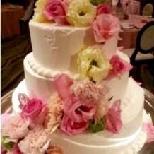 可愛いお花ケーキです。