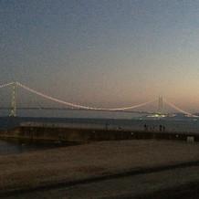 フェア後に明石海峡大橋を見にいった