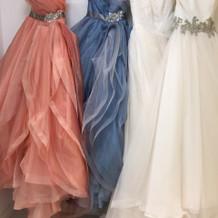 カラードレス、ウェディングドレス