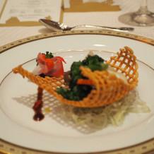 伊勢海老とホタテ貝と野菜の炒め