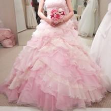 カラードレス プリンセスライン ピンク