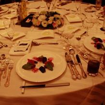当日の料理&テーブル