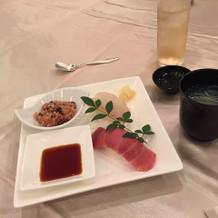 お寿司、お吸い物