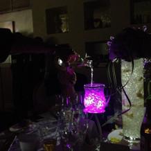 変化する色で当たりのテーブルを作りました