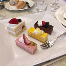 ケーキが選べます。