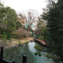 披露宴会場きざはし(2階)から見える庭園