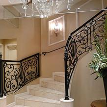 2階へ続く螺旋階段