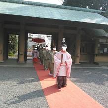 神前式結婚式(入場)