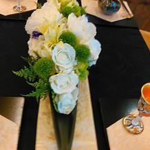 ゲストテーブル装花(長テーブル)