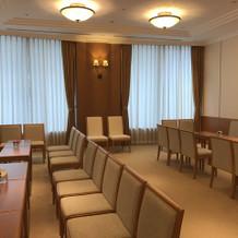 親族控室。式場の近くに配置されています。