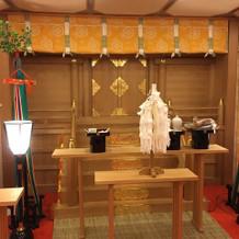 神前式の会場である神殿。(会場5F)