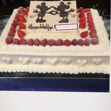 ケーキは好きなデザインを。