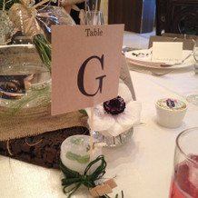 各テーブル