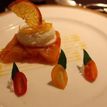 オレンジとフルーツのテリーヌ