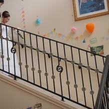 ウェルカムパーティ登場時の階段です