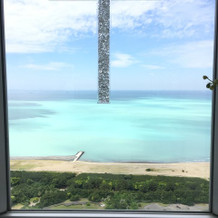 青い海が広がり、開放感を感じます。