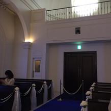 結婚式場の入り口。