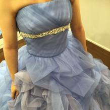 シンデレラのような青のドレス