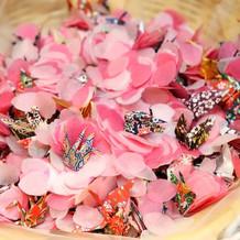 桜の花びらシャワー!