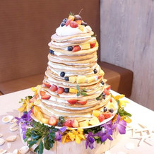 ケーキ台までこだわったパンケーキ