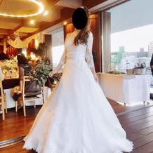 お気に入りの白ドレス