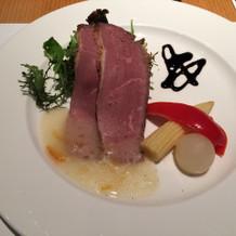 前菜 鴨肉 すごく美味しい