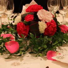 可愛すぎる卓上装花