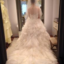 最終的に選んだウェディングドレス!