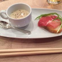 帆立貝とじゃが芋のスープ