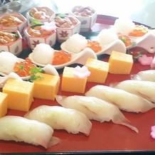 可愛らしいお寿司。
