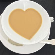 食後のコーヒーはハートが浮かびます!