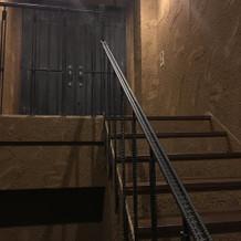 ワクワクしながら登る階段