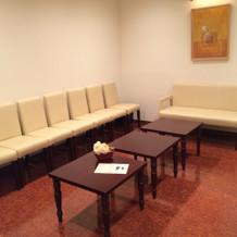 新婦親族控え室