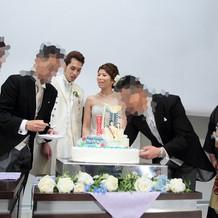 ケーキの演出は3つしました。